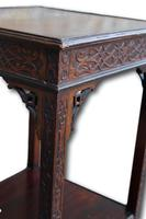 Carved Mahogany Occasional Table / Lamp Table (4 of 4)