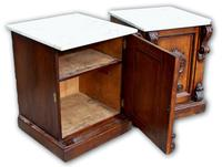 Pair of Oak Cabinets with Marble Tops (4 of 5)