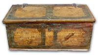 Early 19th Century Painted Pine Coffer
