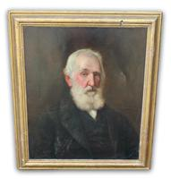 Late Victorian Oil on Canvas Portrait of a Gentleman