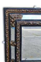 19th Century Brass & Ebonised Cushion Mirror (5 of 5)