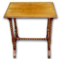 Late Victorian Oak Bobbin Turned Side Table (3 of 4)