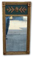 Very Attractive Mid 19th Century Green & Gilt Wall Mirror (2 of 4)