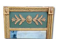 Very Attractive Mid 19th Century Green & Gilt Wall Mirror (3 of 4)