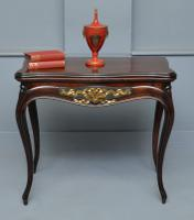French Louis XV Mahogany Card / Games Console Table
