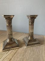 Pair of Mappin Bros Silver Plate Candlesticks c.1895