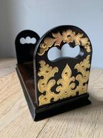 Fine Victorian Coromandel & Brass Book Slide