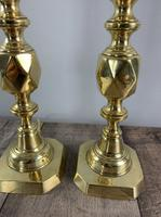 Pair of King of Diamond Brass Table Lamps, Rewired & PAT Tested (3 of 9)