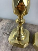 Pair of King of Diamond Brass Table Lamps, Rewired & PAT Tested (5 of 9)