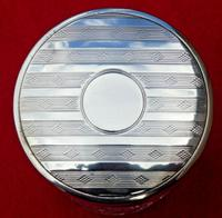 Antique Solid Silver Mounted Glass Round Vanity Jar - 1918 by S*B (2 of 6)