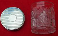Antique Solid Silver Mounted Glass Round Vanity Jar - 1918 by S*B (5 of 6)