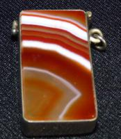Vesta Case with Carnelian Banded Agate Stone Both Sides (2 of 6)
