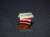 Vesta Case with Carnelian Banded Agate Stone Both Sides (3 of 6)