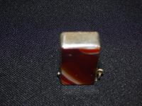 Vesta Case with Carnelian Banded Agate Stone Both Sides (4 of 6)