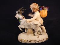 19th Century Samson Porcelain Cherub Putti Figurine No Wings  Gold Anchor Mark (3 of 6)