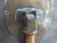 Miniature Oval Brass Tilt Top Table (5 of 5)