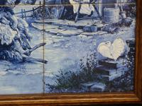 J C Hunnik - 6 Blue and White Tiles Incorporated Into Decorative Tray (13 of 16)