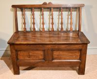 Elegant Breton Mid 19th Century French Chestnut Bench