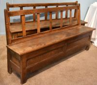 Good Pair of Mid 19th Century French Breton Chestnut Benches