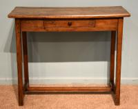 Oak & Ash One Drawer Side Table Server