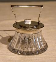 Silver Inkwell & Pen Rest 1896