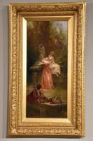 "Oil Painting Pair by Thomas Gray ""the Love Letter"" and ""the Serenade"" (5 of 10)"