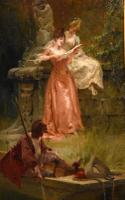 "Oil Painting Pair by Thomas Gray ""the Love Letter"" and ""the Serenade"" (7 of 10)"