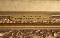 "Oil Painting Pair by Thomas Gray ""the Love Letter"" and ""the Serenade"" (8 of 10)"