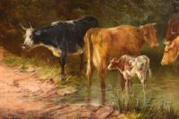 """Oil Painting by Samuel Joseph Clark """"the Cow Maid"""" (3 of 5)"""
