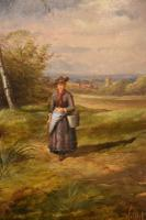 """Oil Painting by Samuel Joseph Clark """"the Cow Maid"""" (4 of 5)"""