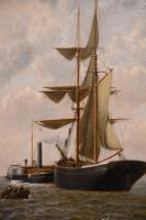 "Oil Painting Pair by Henry Witherspoon ""Barge Entering Dover Harbour"" (7 of 10)"