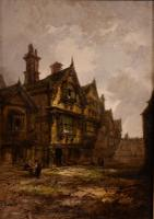 """Oil Painting by Henry Foley """"the Old House"""" (2 of 4)"""