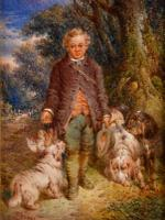 """Oil Painting by Paul Jones """"the Young Gamekeeper"""" (2 of 5)"""