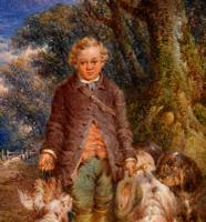 """Oil Painting by Paul Jones """"the Young Gamekeeper"""" (3 of 5)"""