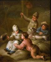 """Oil Painting by Jean-Baptiste Simeon Chardin """"Children Playing and """"Ladies Cooking"""" (5 of 5)"""