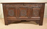 Carved Oak Coffer From17th Century (3 of 7)