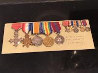 WW1 Group of Medals Full Size with Miniatures