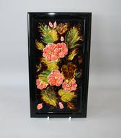 Rare Antique Floral Majolica Tile Manufactured by Godwin & Hewitt c.1890
