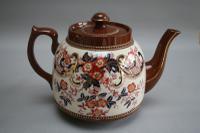 Heavy Brown Pottery Tea Pot (2 of 3)