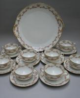 8 Piece Limoges Tea Set with Large Serving Plate