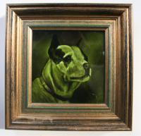 Portrait Tile of a Staffordshire Bull Terrier by George Cartlidge