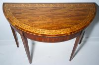 Fine Period 1790s Card Table with Original Decoration