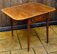 A Very Attractive Good Quality Mahogany and Inlaid Pembroke Table On Square Tapering Legs
