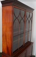 Georgian Mahogany & Ebony Inlaid Cupboard Bookcase C.1810 (6 of 9)