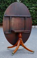 Eight-Seater Georgian 1790s Mahogany Oval Tilt Top Dining Table (4 of 6)