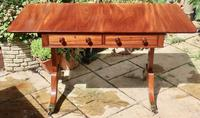 Solid Mahogany 1820s End Support Sofa Table in Excellent Condition