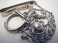 Hallmarked Solid Sterling Silver Vintage Tie Clip Chatelaine Pocket Watch Albert Chain Fob 1960 / 1961
