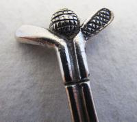 Novelty Golf Spoon Solid Sterling Silver Hallmarked Tea / Coffee Spoon. Golf Club & Ball. Vintage / Retro