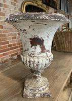 Pair of French Cast Iron Urns (4 of 5)