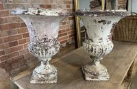 Pair of French Cast Iron Urns (2 of 5)